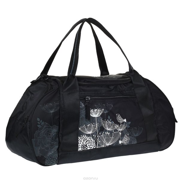 Сумка багажная , цвет: черный. td-443-1, Grizzly