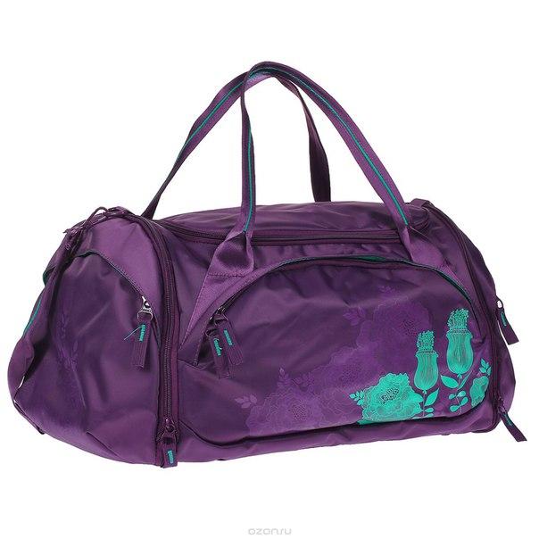 Сумка багажная , цвет: фиолетовый, изумрудный. td-443-2/5, Grizzly
