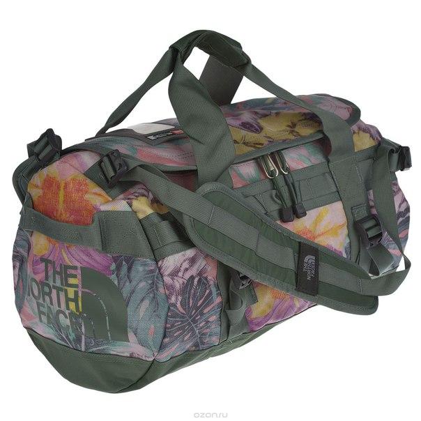 "Сумка женская  ""base camp duffel"", цвет: розовый, зеленый, мульти. размер xs, The North Face"
