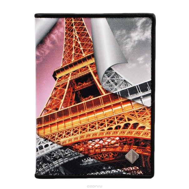 """Обложка для паспорта gold """"eifel tower"""", цвет: золотой, серый, розовый. 306-14183, Flioraj"""