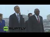 LIVE : Barack Obama visit in Cuba: Wreath laying at the José Marti Memorial in Havana