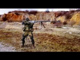 1st Slavyansk brigade militia shoulder firing PTRS AT rifle