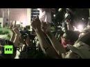 США: Фергюсон протестующие отмечают один год после смерти Майка Брауна.