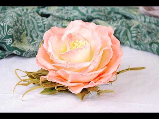 Цветок из фоамирана. Цветы из фоамирана своими руками схемы шаблоны. Пошаговый мастер класс