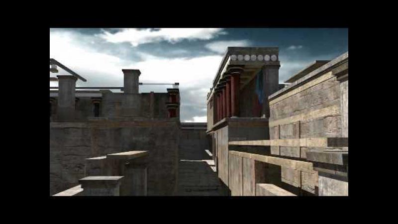 Knossos Palace Reconstruction Crete 3D