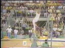 Olga Korbut Uneven Bars with Korbut Flip slow motion replay (1972 Olympics)