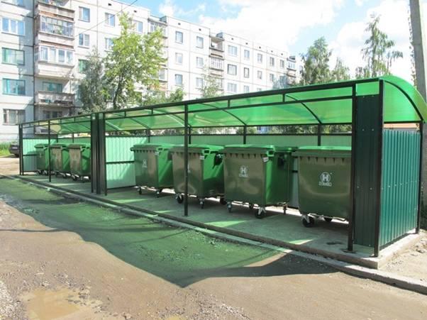 Площадки для мусорных баков