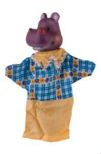 """Кукла-перчатка """"бегемот"""", Огонек"""