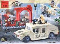 """Конструктор """"военный хаммер + самолет"""", 323 элемента, ENLIGHTEN (Brick)"""