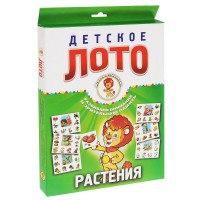 Растения. детское лото (набор из 54 карточек), Улыбка