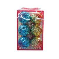 Набор новогодних шаров в виде шишки, арт. е94702, Snowmen