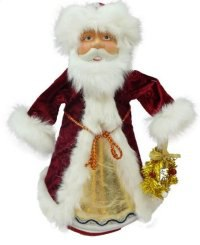"""Кукла-конфетница """"дед мороз"""", 35 см (красная), Новогодняя сказка"""