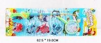Набор рыбалка магнитная (удочка, 4 рыбки, сачок), Shantou Gepai