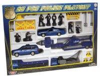 """Игровой набор """"полиция"""" + кран в подарок, Motor Max"""