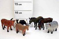 Набор резиновых зверей. 6 штук. фермерские животные. арт. нв9929/6, Shenzhen Jingyitian Trade Co., Ltd.
