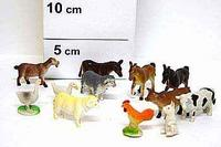 Набор резиновых зверей. 6 см. домашние животные. 12 штук. арт. farm animals hb607/12 (hb9608/12), Shenzhen Jingyitian Trade Co., Ltd.