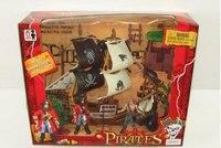 """Набор """"пираты"""" (корабль, пушка, смотровая вышка, фигурки пиратов), Shantou Gepai"""