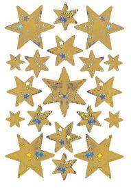 """Наклейки """"новый год, золотые звезды"""", Herma"""
