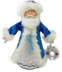 """Кукла-конфетница """"дед мороз"""", 35 см (синяя), Новогодняя сказка"""
