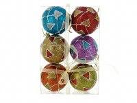 """Набор шаров новогодних """"мультицвет"""", диаметр 8 см (6 штук), Monte Christmas"""