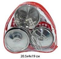 Набор металлической посуды в рюкзаке, 9 предметов, Shantou Gepai