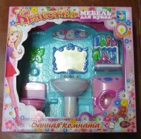 "Набор мебели для кукол ""красотка. ванная комната"", 1 Toy"