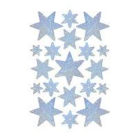 """Наклейки """"новый год. серебряные звезды"""", Herma"""