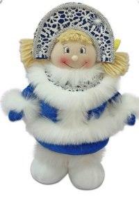 """Кукла """"снегурочка"""", 35 см (синяя), Новогодняя сказка"""
