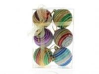 """Набор шаров новогодних """"серпантин"""", диаметр 6 см (6 штук), Monte Christmas"""