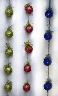 "Новогодняя цепь с мишурой ""шар"", Snowmen"
