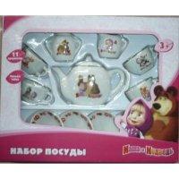 """Набор посуды """"маша и медведь"""", 11 предметов, Играем вместе"""