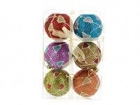 """Набор шаров новогодних """"мультицвет"""", диаметр 7 см (6 штук), Monte Christmas"""