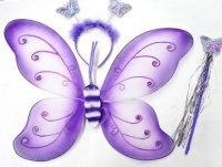 """Крылья """"бабочка"""", 40 см, Новогодняя сказка"""