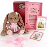 """Мягкая игрушка """"зайка лин в розовом платье"""", 25 см, JACK LIN"""