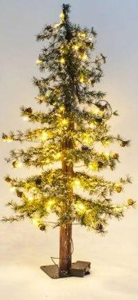 "Ель искусственная ""закарпатская стройная заснеженная"", 120 см (с 50 led-лампами), Crystal Trees"