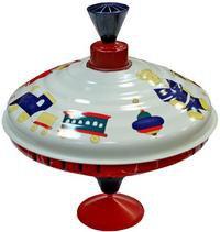 """Юла металлическая """"старинные игрушки"""" (диаметр 19 см), Лена"""
