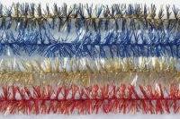 """Новогодняя мишура """"фантазия"""" (сине-золотая, узкая), арт. а0269н, Snowmen"""