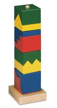 Паззл-башня, 8 элементов, Bino
