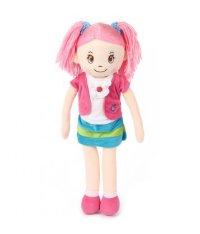 Кукла мягконабивная, 50 см, розовые волосы, Игруша