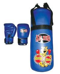 Набор боксерский, детский, синий, Jabb