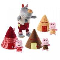 """Пальчиковые игрушки """"волк и три поросенка"""", Lilliputiens"""