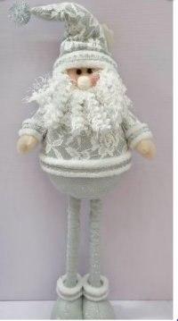 """Кукла с телескопической конструкцией """"дед мороз"""", 55 см (серебристый), Новогодняя сказка"""