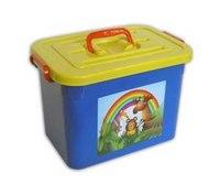"""Ящик для игрушек """"радуга"""", 10 л, Полимербыт"""