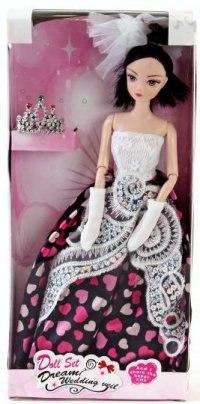 """Кукла шарнирная """"jenny"""" (платье в сердечки), Shantou Gepai"""