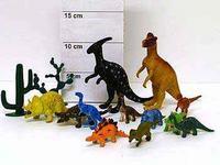 Набор резиновых зверей. 10 см. динозавры с растениями. 12 штук. арт. dino world арт. f285, Shenzhen Jingyitian Trade Co., Ltd.