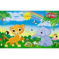 """Пазл """"волшебный мир. львенок и слоненок"""", 15 элементов, Канц-Эксмо (Listoff, Unnika Land)"""