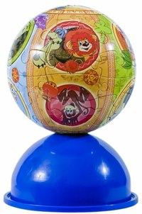 """Пазл-шар """"львёнок и черепаха"""", 24 элемента, Step Puzzle (Степ Пазл)"""