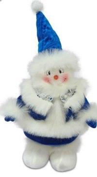"""Кукла """"снеговик"""", 35 см (синяя), Новогодняя сказка"""