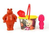 Песочный набор (4 предмета), Маша и Медведь
