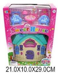 """Дом для кукол """"мой милый дом"""" (белый с голубой крышей), Shantou Gepai"""